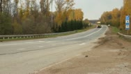 Cars on the highway. Trucking, traffic, cars Stock Footage