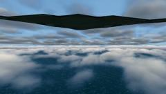 B-2 Stealth Bomber flying over ocean - stock footage