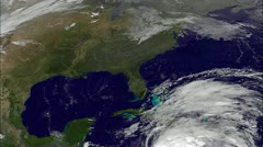 Stock Video Footage of Hurricane Sandy attacks the East Coast of the USA with flooding and destruction