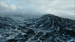 Rough Sea Loop 3D FULL HD Stock Footage