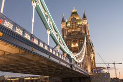 Power of tower bridge in autumn Stock Photos