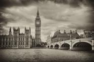 Stock Photo of london, uk - palace of westminster (houses of parliament) with big ben clock