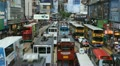 Hong Kong Crowds Rush Hour Shopping Area, Crowded Street, Car Traffic time lapse Footage