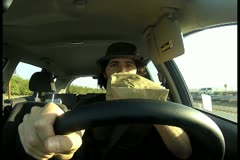 Man driving V1 - NTSC - stock footage