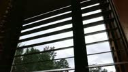 Stock Video Footage of overcast clouds through window