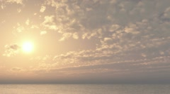 Cloud front at dawn over the ocean Stock Footage