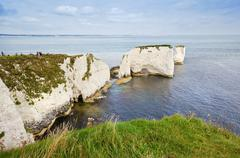 Old harry rocks jurassic coast unesco dorset england Stock Photos