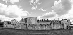 tower of london, wideangle view - stock photo