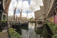 st katharine docks in london - stock photo