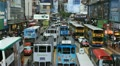 Causeway Bay, Hong Kong Crowds Shopping Crowded Street, Car, Bus Traffic Footage