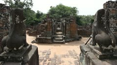 Entrance inside Pre Rup Stock Footage