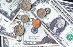 USA dollars background - stock photo