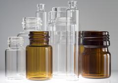 Pharmaceutical vials - stock photo