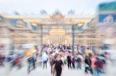 View of main entrance of versailles. paris, france, europe. Stock Photos