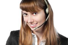 helpdesk operator - stock photo