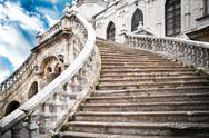 Stock Photo of grand stairs of the church