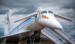 supersonic jet plane - stock photo