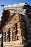Wooden log house Stock Photos