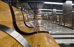 modern subway station hall - stock photo