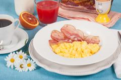 english breakfast - stock photo