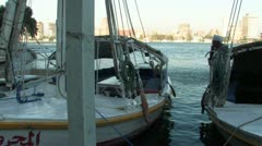 Nile River Boats Stock Footage