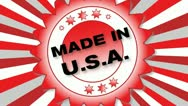 Stock Video Footage of Made in USA