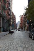 Deserted NYC Street After Hurricane Sandy - stock photo