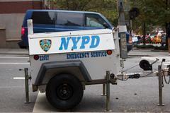 NYPD Emergency Service Generator - stock photo