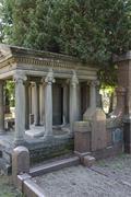 detail of a jewish graveyard - stock photo