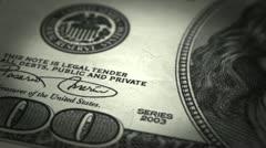 Dollar Close-up Stock Footage