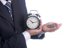 Stock Photo of choice between time and money