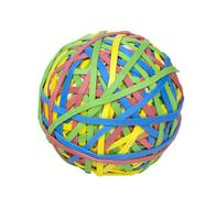 ball of rubber bands, includes clipping path - stock photo