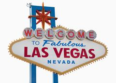 las vegas sign, includes clipping path - stock photo