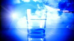 Bottle with pure water 2 Stock Footage