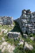 Defensive wall of the pre-historical Monkodonja - stock photo