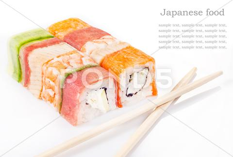 Stock photo of sushi roll collection