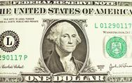 Stock Photo of likeness of george washington on one dollar bill