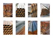 Stock Photo of Metal-roll bunches selection