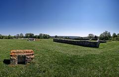Ancient construction of the prehistoric town Nezactium Stock Photos