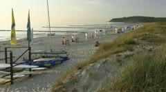 Vitte Beach on Hiddensee Island - Baltic Sea, Northern Germany Stock Footage