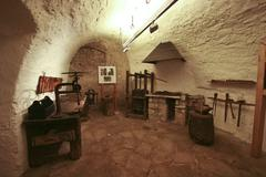 Interior with medival hendicrafts in castle Pazin - stock photo