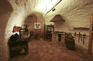 Stock Photo of Interior with medival hendicrafts in castle Pazin