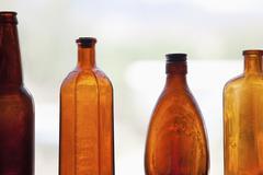 Antique bottles Stock Photos