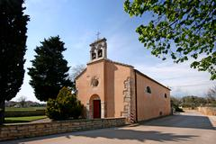 Church of the Blessed Virgin Mary in Pomer Stock Photos