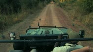 Safari Truck POV Stock Footage