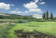 Tuolumne Meadows Time Lapse Stock Footage