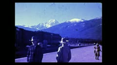Alberta waiting for the train in Jasper 1938 Stock Footage