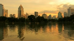 City at evening Stock Footage