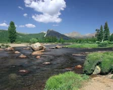Tuolumne Meadows in Yosemite Stock Footage