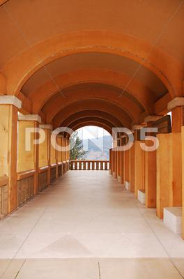 Stock photo of Mission archway